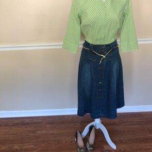 DCC petite easy stretch zip up shirt